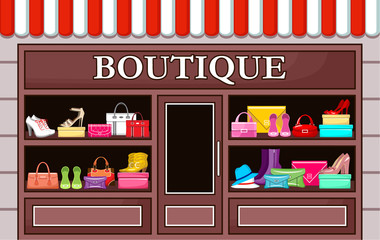 Fashion boutique. vector illustration