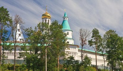Zion tower. Great monasteries of Russia. New Jerusalem monastery