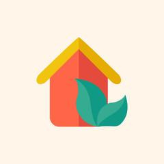 Eco-friendly House Flat Icon