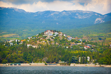 The Crimean landscape in summer. A look at the Beach