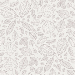 Leaves. Seamless vector background.