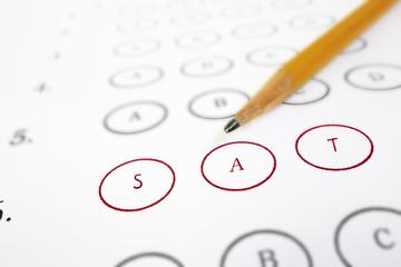 SAT test sheet