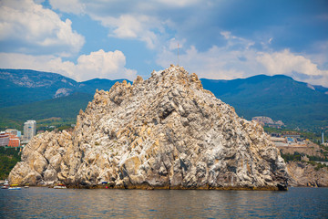 Adalary rocks in the Black Sea, Crimea, Gursuf, Russia.Yalta