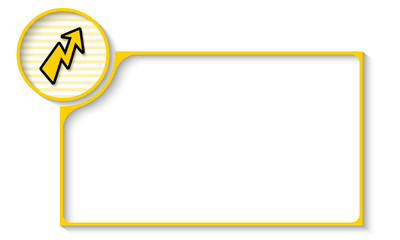 yellow frame for any text with flash symbol