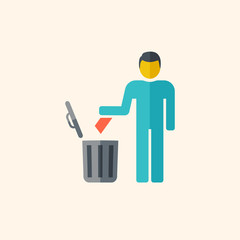 Garbage Disposal Flat Icon