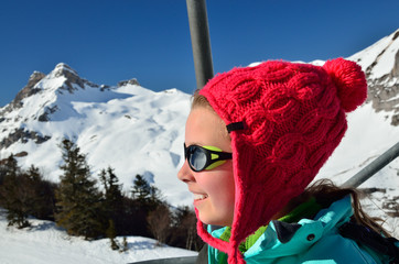 Vacations in the winter mountains