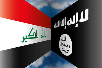 iraq vs isis flags