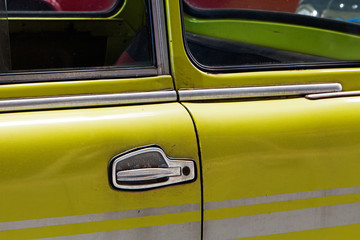 The Old car and door handle