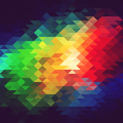 Colorful abstract geometric background with triangles.
