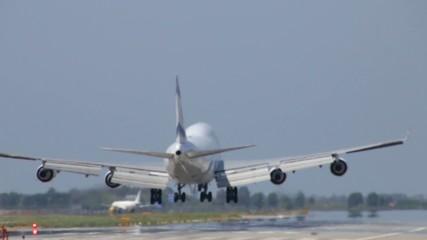 Commercial Jet Plane Boeing 747-400 Landing