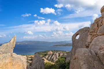 Sardegna, Palau, panorama della costa da Capo d'Orso
