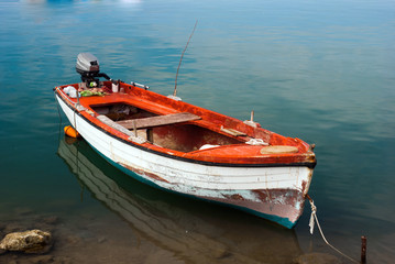 Traditional fishing boat at Halkidik peninsula  Greece