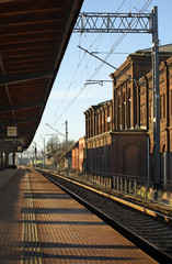 Railway station in Brzeg. Poland
