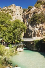 View of from the bridge at Saklikent canyon, Turkey