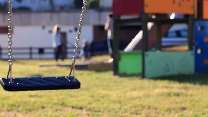 Empty Swing Swinging