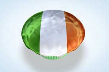 Ireland's, Irish Flag Cupcake