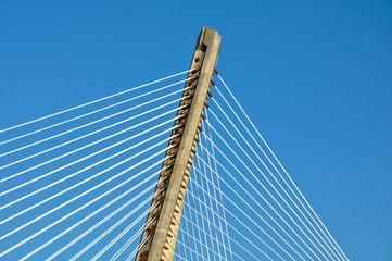 Pontevedra, Galicia, detalle del Puente de los Tirantes