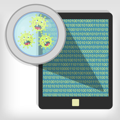 Germs on tablet