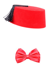 Fez and bow tie