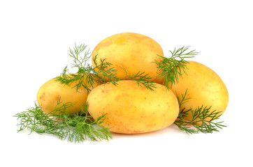 Potatoes with green dill