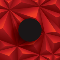 Red background. Vector geometric background.