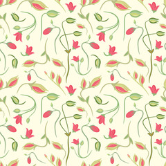 seamless summer tiny floral pattern