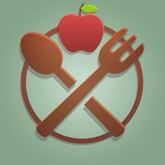 Icona alimentazione frutta