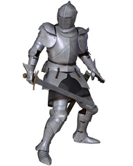 Fifteenth Century Medieval Knight in Fighting Pose