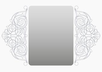 Beyaz fonlu   süs ( Yatay )
