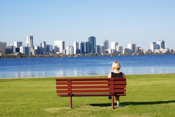 Bench looking at the city