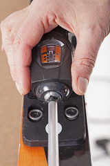front ski binding adjustment