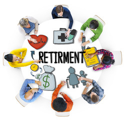 Multiethnic Group of People with Retirement Concept