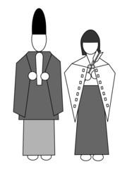 神官と巫女のアイコン