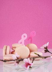 Pink macarons for Pink Ribbon October charity