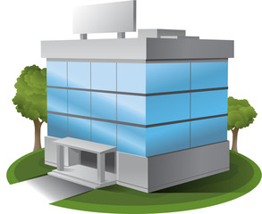 threeD Vector office building illustration