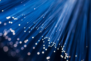 Blue fiber optics