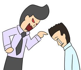 cartoon color salary man expression regret
