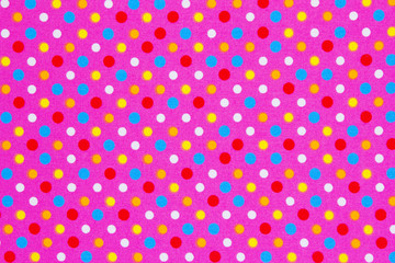 colorful ellipses pattern with pink polka dot border