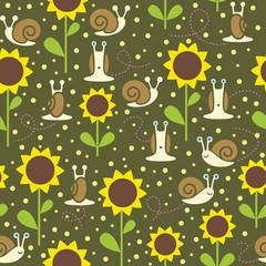 Seamless snail background