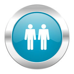 couple internet blue icon