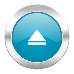 eject internet blue icon