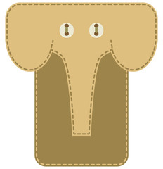 Case for mobile phone - elephant