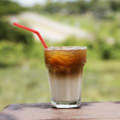 Ice coffee caramel Latte