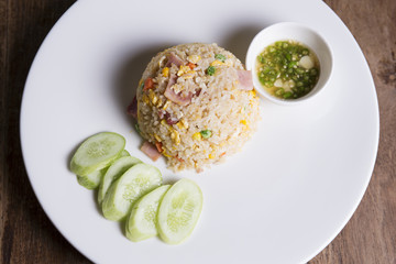 Fired rice with Ham