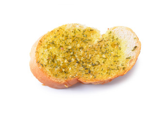 freshly toasted garlic bread