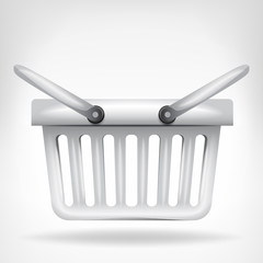 classic basket in side view isolated