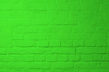 Green Brick Background