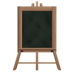 tall blackboard on tripod object isolated