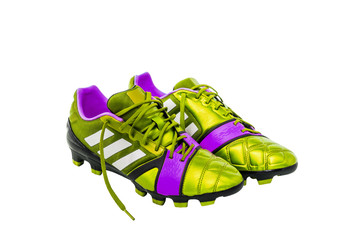 soccer shoes on white background