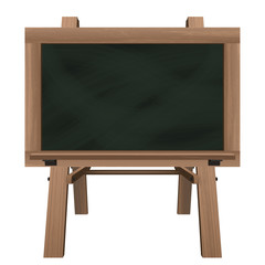 wide blackboard on stand object isolated